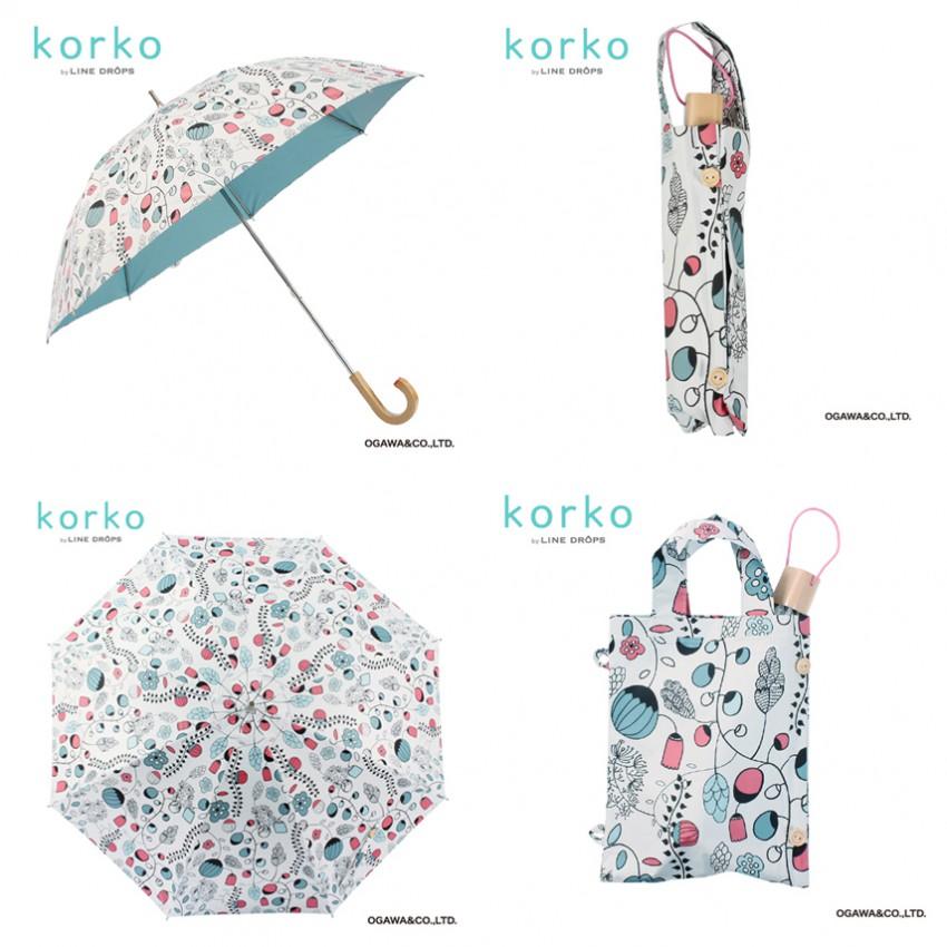 Tina Backman Hasselnötter umbrellas.