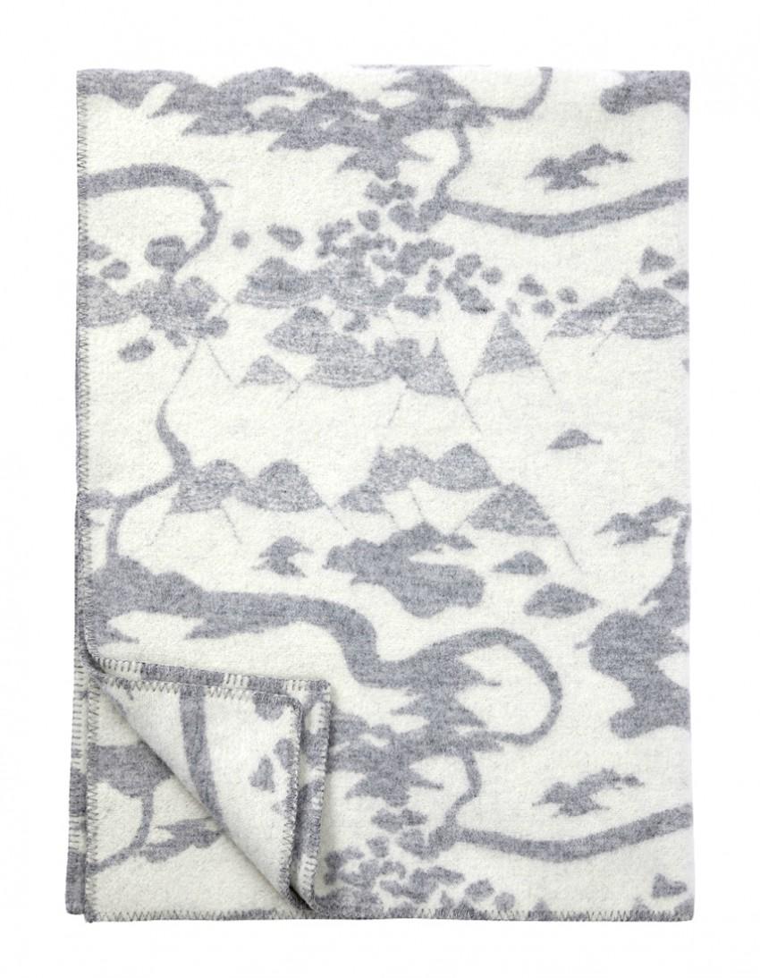 Wool blanket Smalandsskog Tina Backman Klippan
