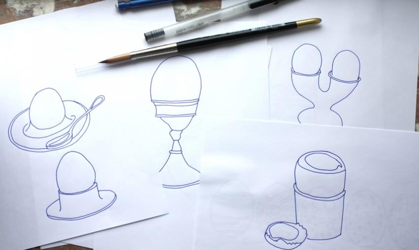 Drawings eggs Tina Backman