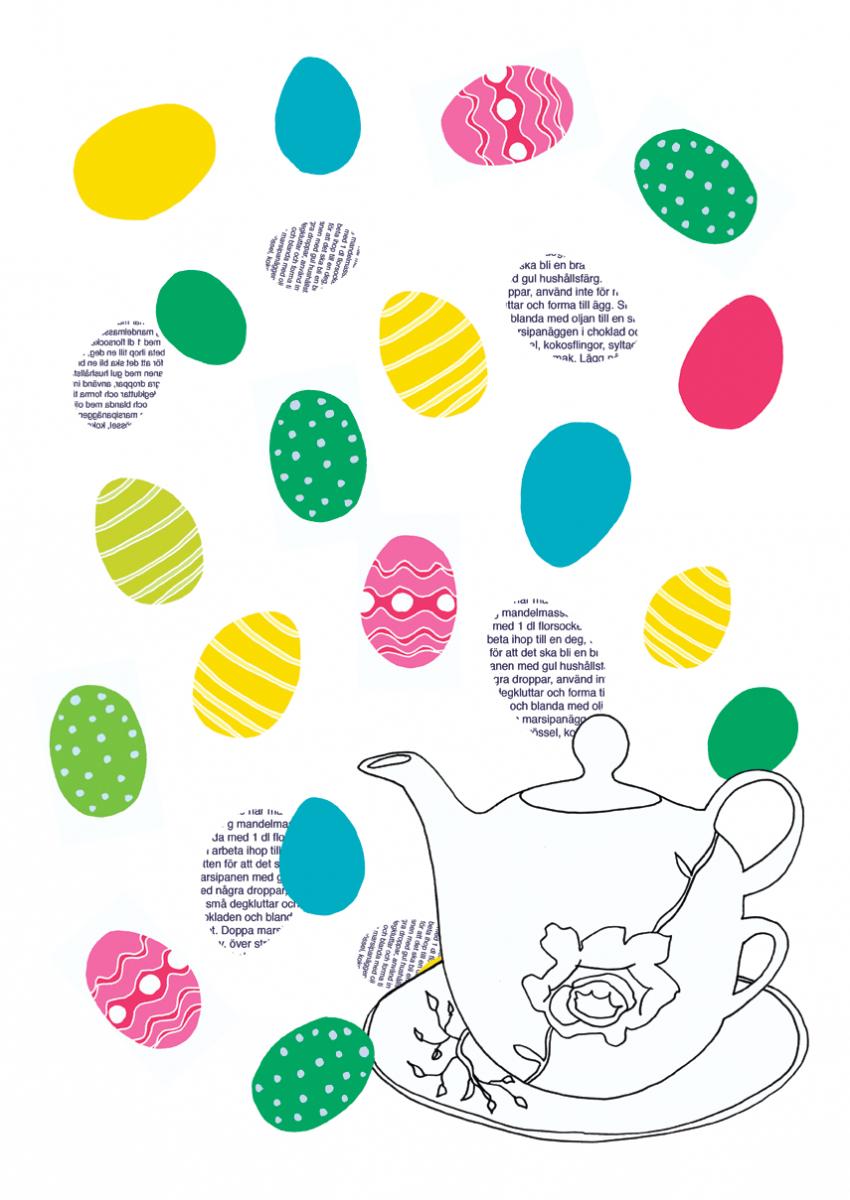 happy-easter, Illustration Tina Backman